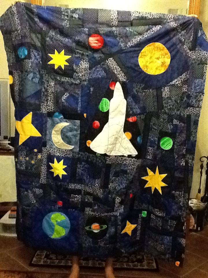 Beebee 39 s quilts and more outer space quilt in progress for Outer space quilt