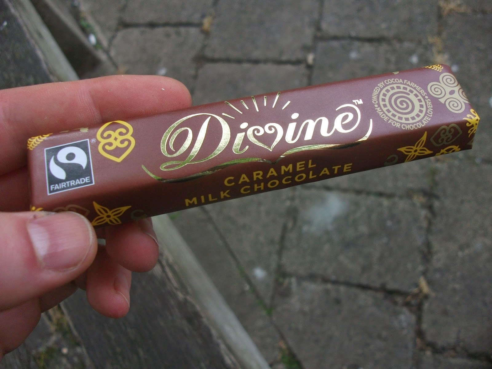 divine fairtrade caramel milk chocolate