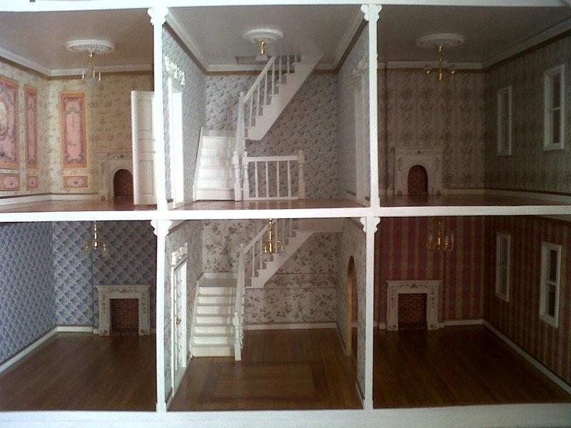 Casita de mu ecas de elizabeth confeccion de las for Como hacer una escalera de madera para segundo piso