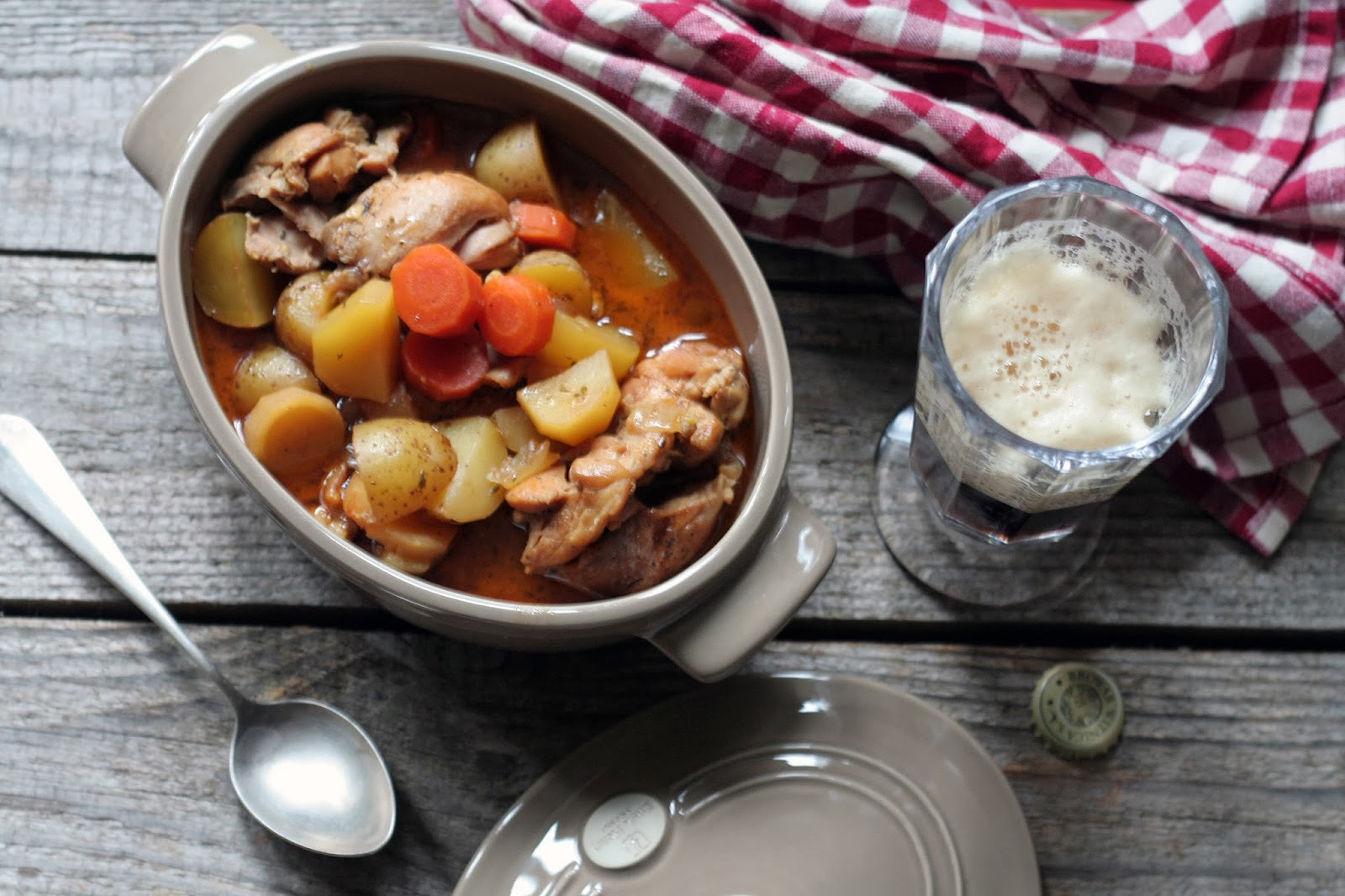 Porter-Braised Chicken With Root Vegetables Recipes — Dishmaps