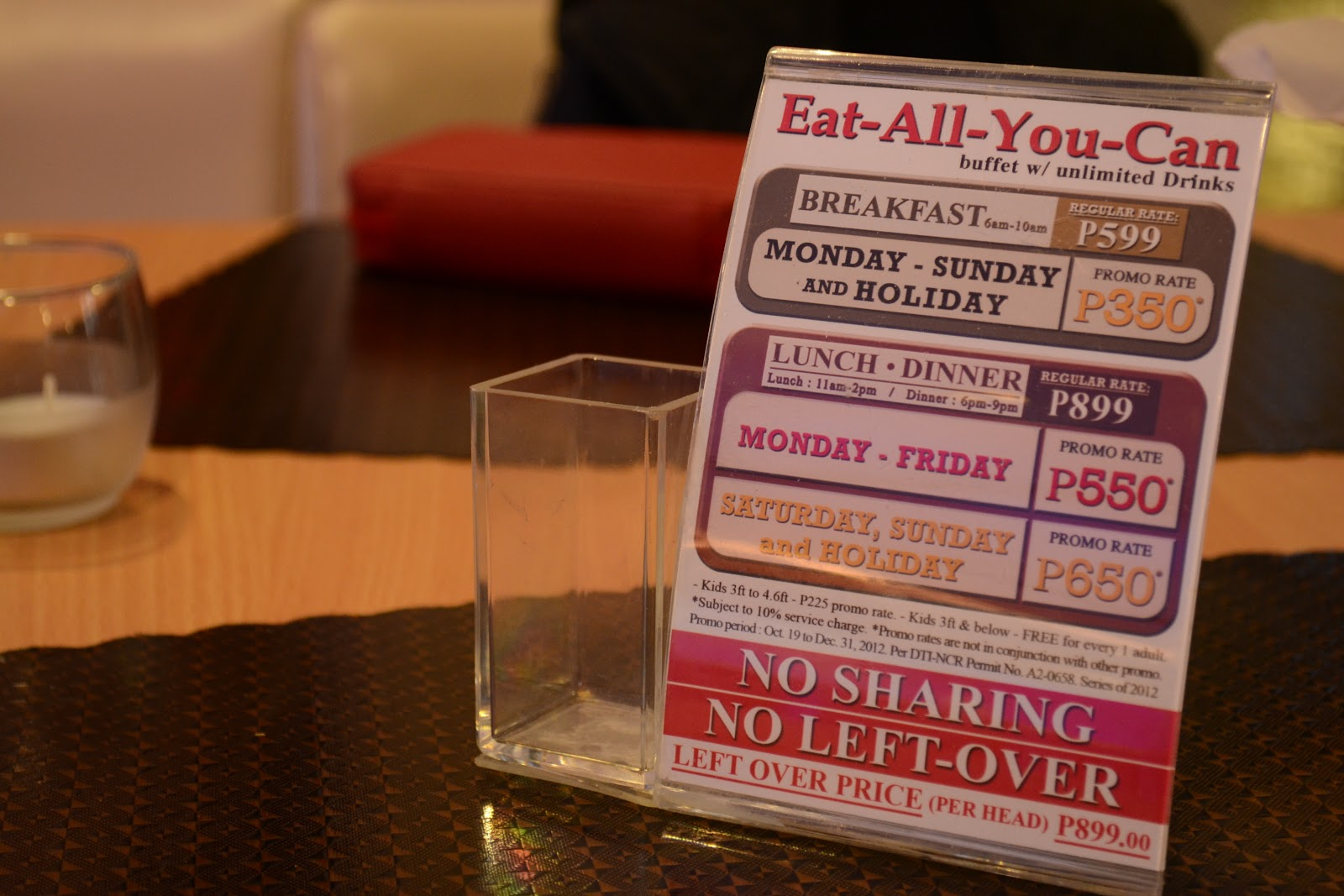 Ace Water Spa Buffet Price