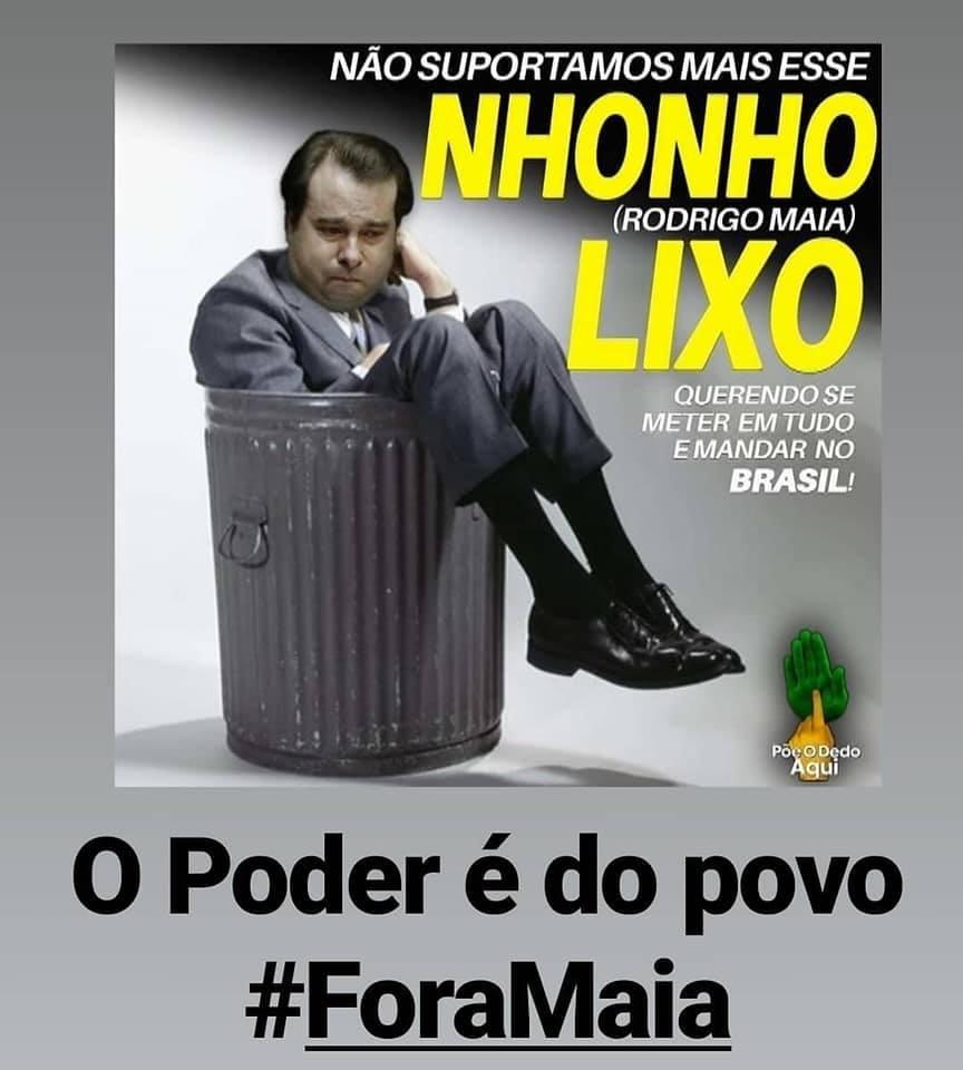 #ForaMaia