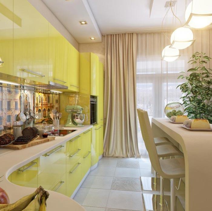 Дизайн для кухни-гостинной