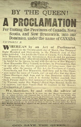 Proclamation Of Canadian Confederation