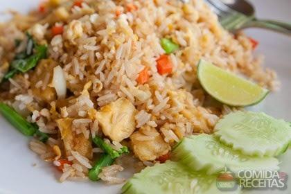 imagem de arroz com frango