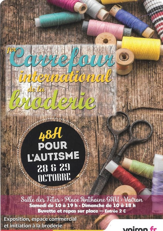 Carrefour international de la broderie à Voiron les 28 et 29 octobre