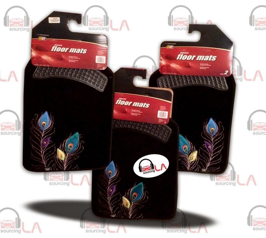 http://www.ebay.com/itm/3-PAIRS-of-Universal-CC-Car-2-piece-Floor-Mats-AE-Peacock-2pcs-/141411103668
