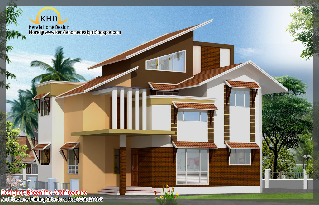 16 awesome house elevation designs kerala home for Awesome home designs