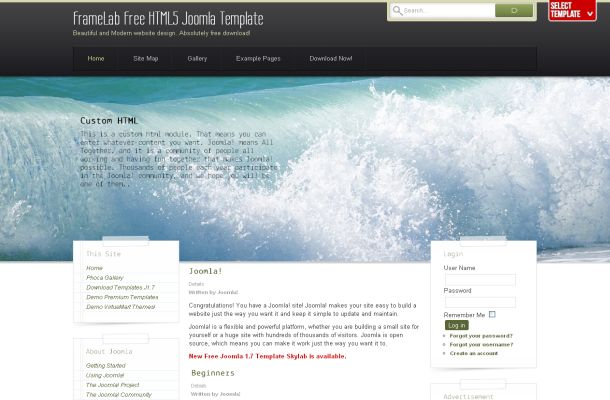 Free grunge sea modern joomla theme template accmission Gallery