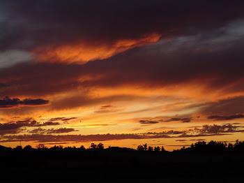 Intimidad necesitamos todos. El sol pone nubes a modo de cortina porque quiere estar solo...