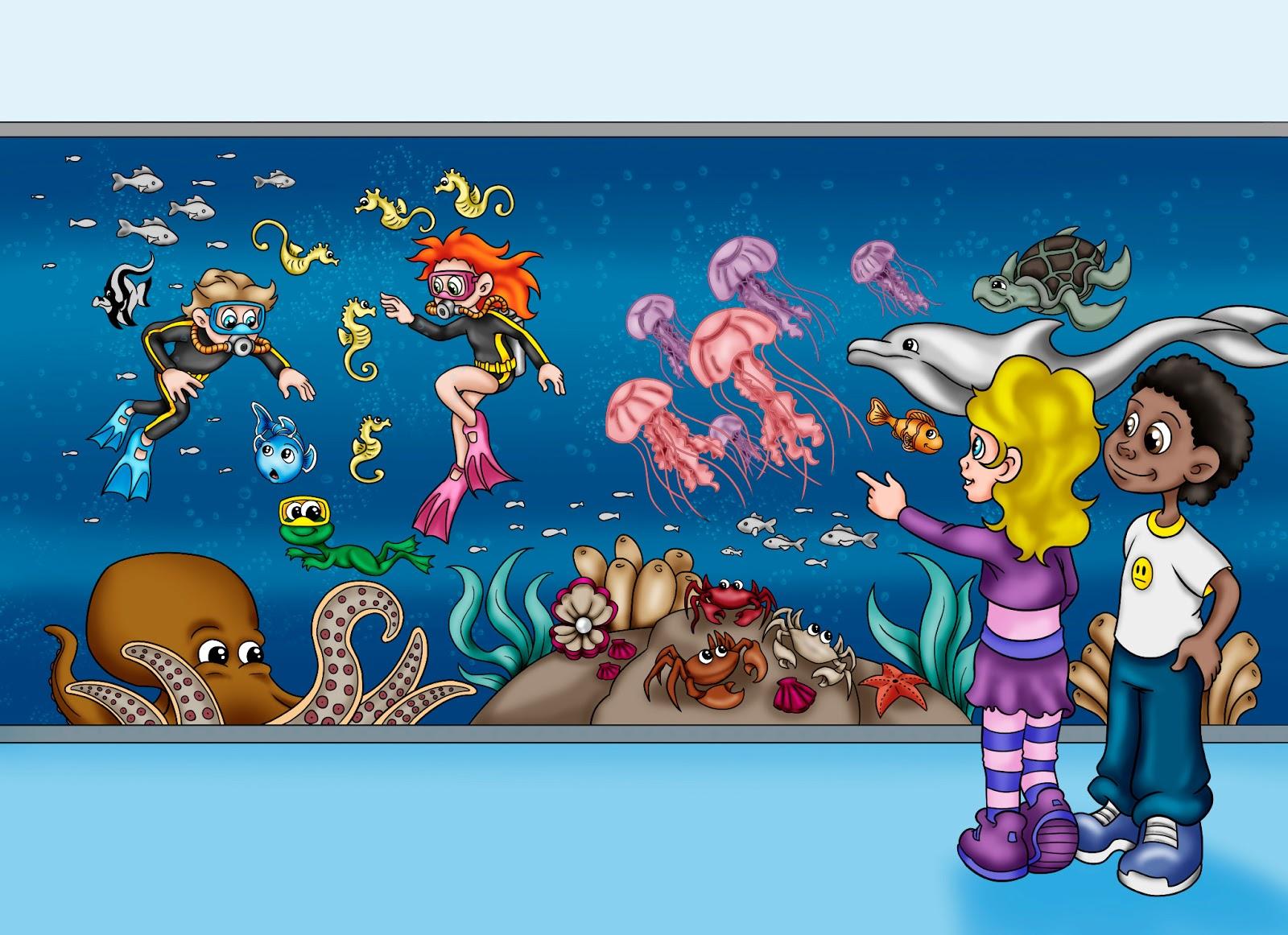 Remyblas ilustraci n y dise o acuario for Disenos de acuarios
