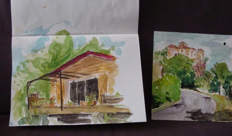 aquarelle bruniquel maison velkrol