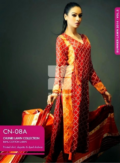 Summer Collection Embroidered Chunri Lawn