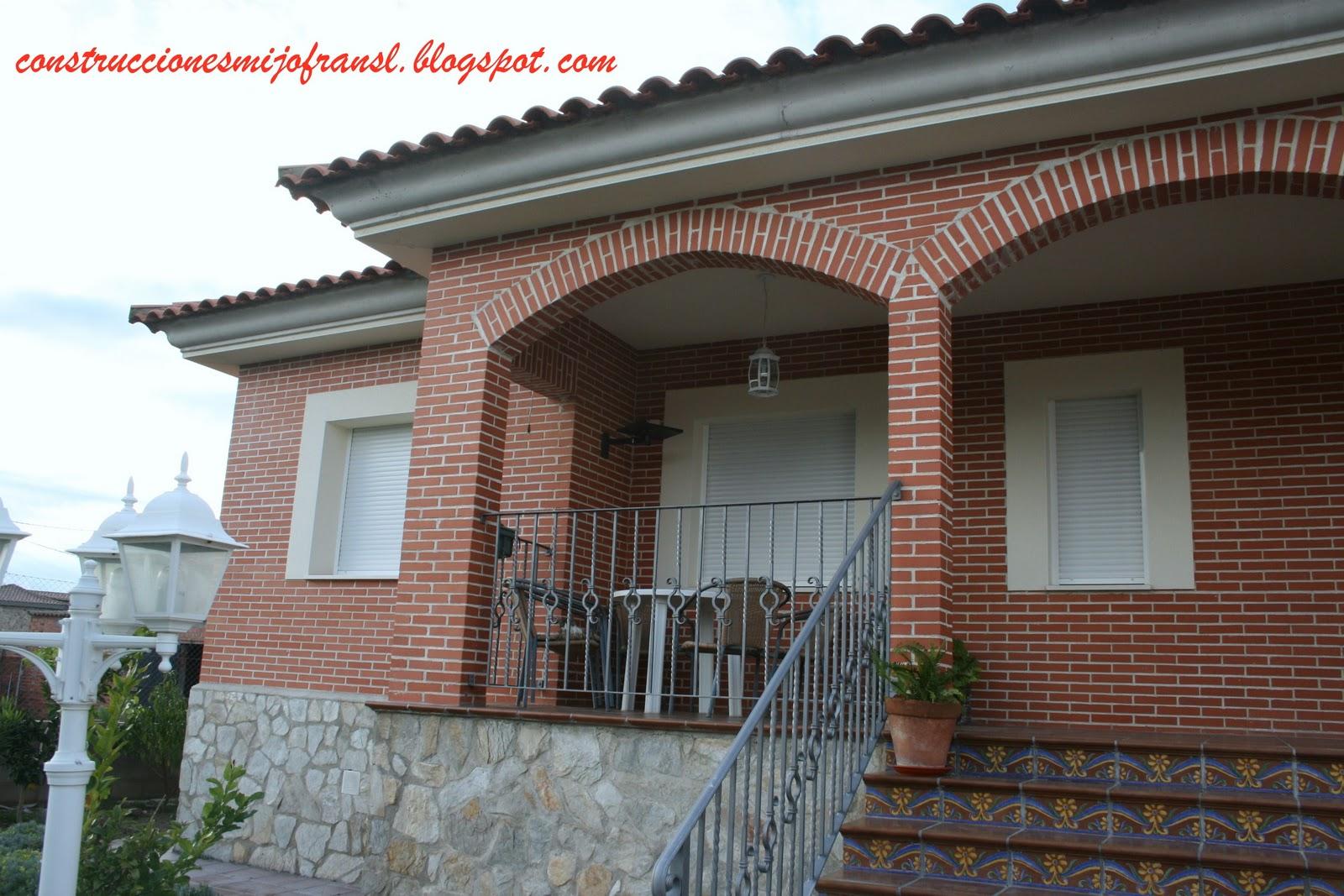 Construcciones mijofran s l casa de ladrillo visto - Arcos de ladrillo rustico ...
