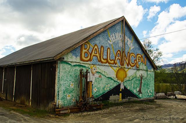 carel de bienvenida a Ballancen, Noruega