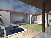 . piscina, pois desta forma foi possível manter espaços livres de jardim .