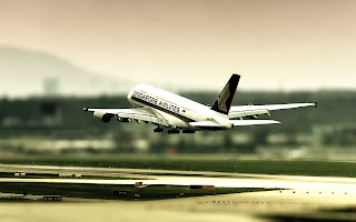 Aircraft Take off Singapore Airlines Airport HD Wallpaper