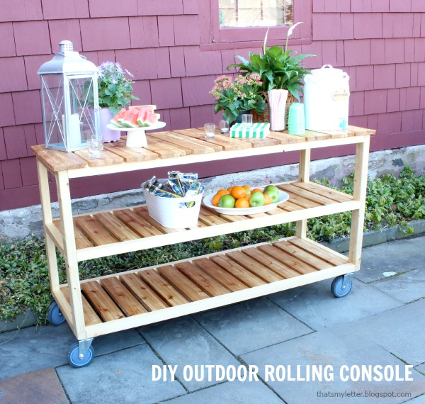 diy rolling console free plans