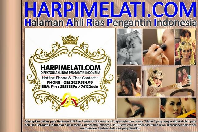 HARPIMELATI.COM - Halaman Ahli Rias Pengantin Indonesia adalah Direktori Online pada Ahli Rias Pengantin Indonesia