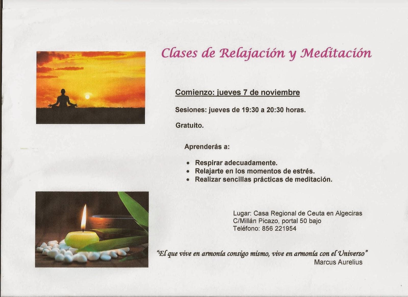 Casa regional de ceuta en algeciras clases de meditaci n - Relajacion en casa ...