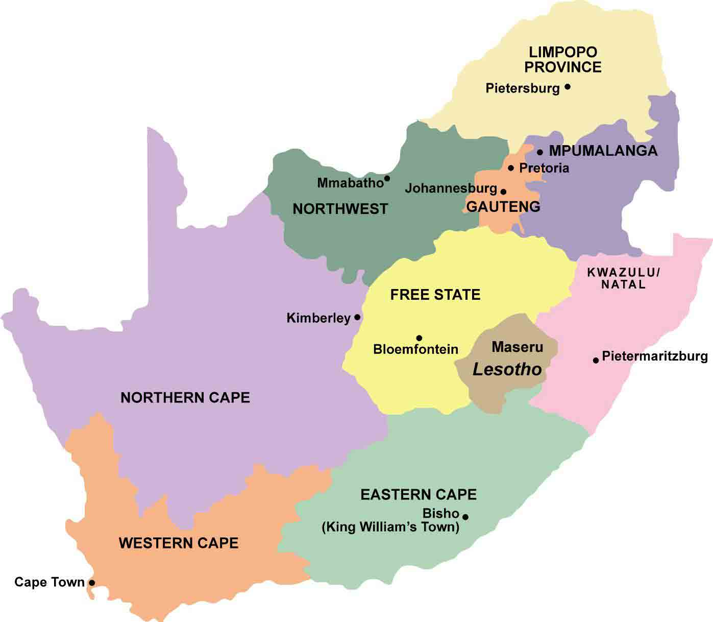 anyway that map should also give you a scale of how far we drove we started in johannesburg in gauteng