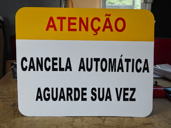 Placa de sinalização