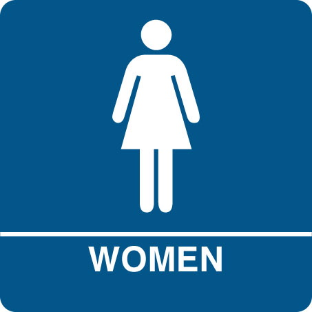 female woman bathroom symbol - Bathroom Symbol