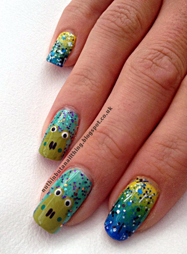 nuthin\' but a nail thing: Lush Lacquer Splitter Splatter and Just ...