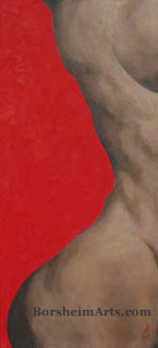 Torso with Red Abstract painting of Human Figure
