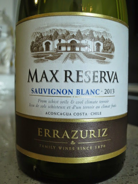 Wine Review of 2013 Errázuriz Max Reserva Sauvignon Blanc from Aconcagua Valley, Chile
