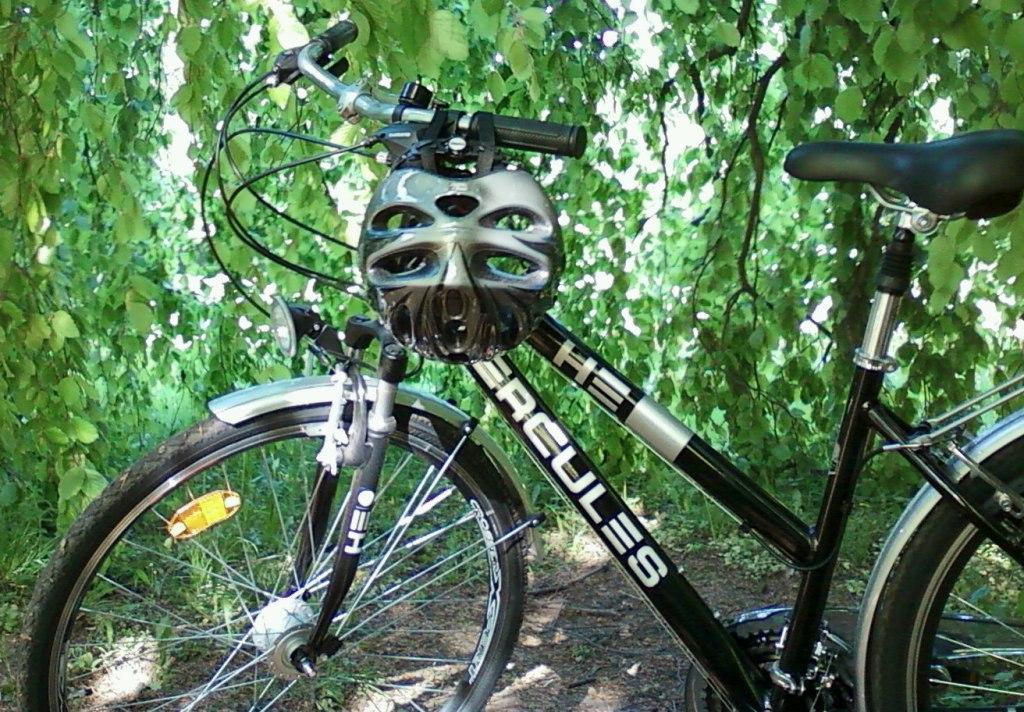 fahrrad fahndung hercules schwarzes damen trekkingbike. Black Bedroom Furniture Sets. Home Design Ideas