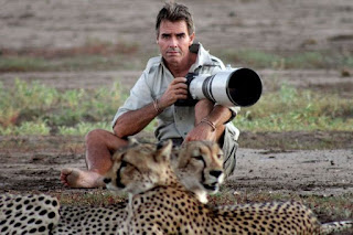 Shocking Moment Photographer's Feet Was Licked By Wild Cheetah (Photos)