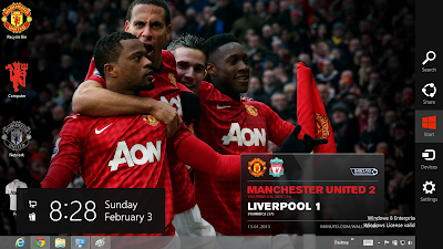 Manchester United 2013 Theme For Windows 8