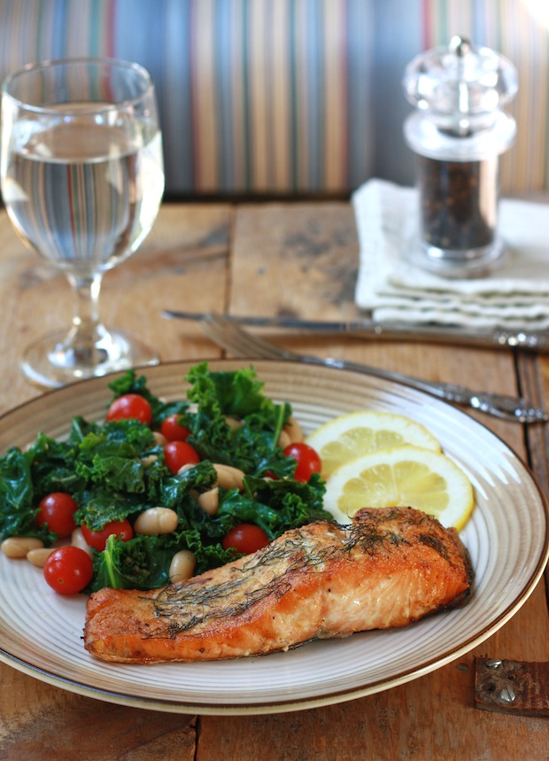 Roasted Dill-Mustard Salmon recipe by SeasonWithSpice.com