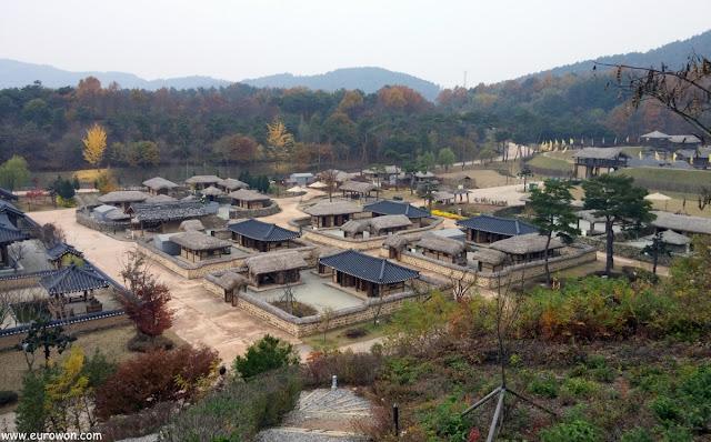 Reconstrucción de Wiryeseong en el Complejo Cultural de Baekje en Buyeo