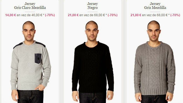 Ejemplos de jerséis para hombre a la venta desde 14 euros