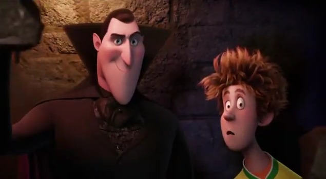 Hotel Transylvania 2012 3-D animated movie Adam Sandler as Count Dracula Andy Samberg as Jonathan Human-free hotel for monsters