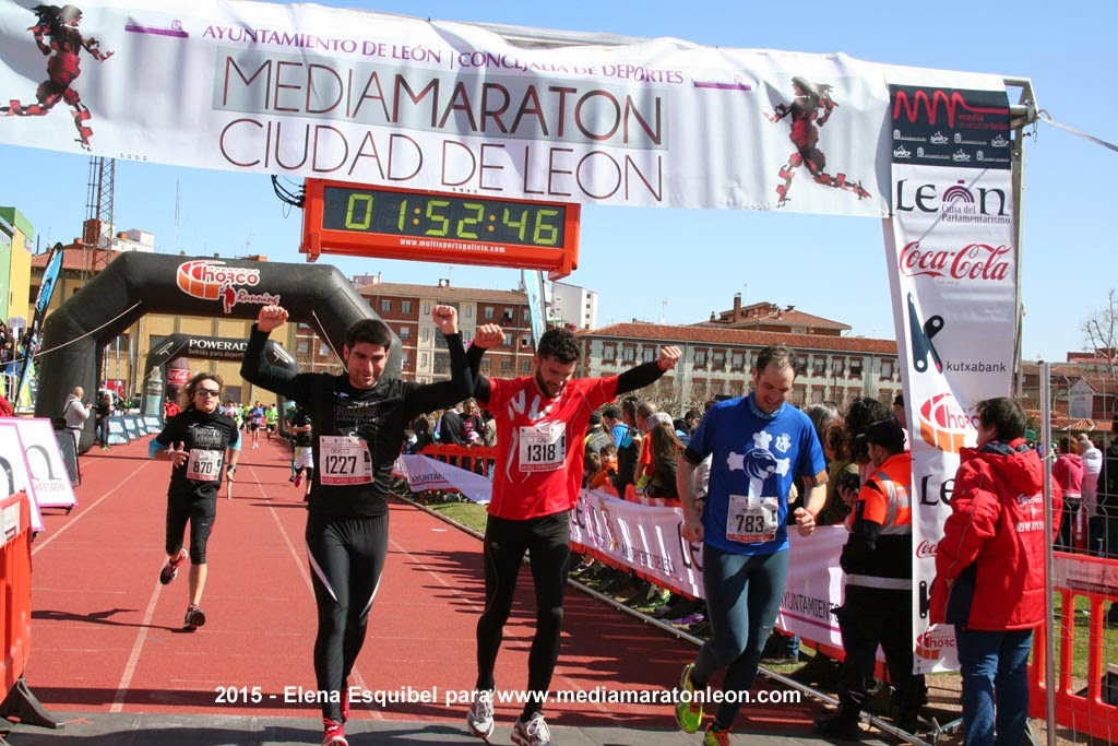 Fotos Llegada Media Maraton Leon