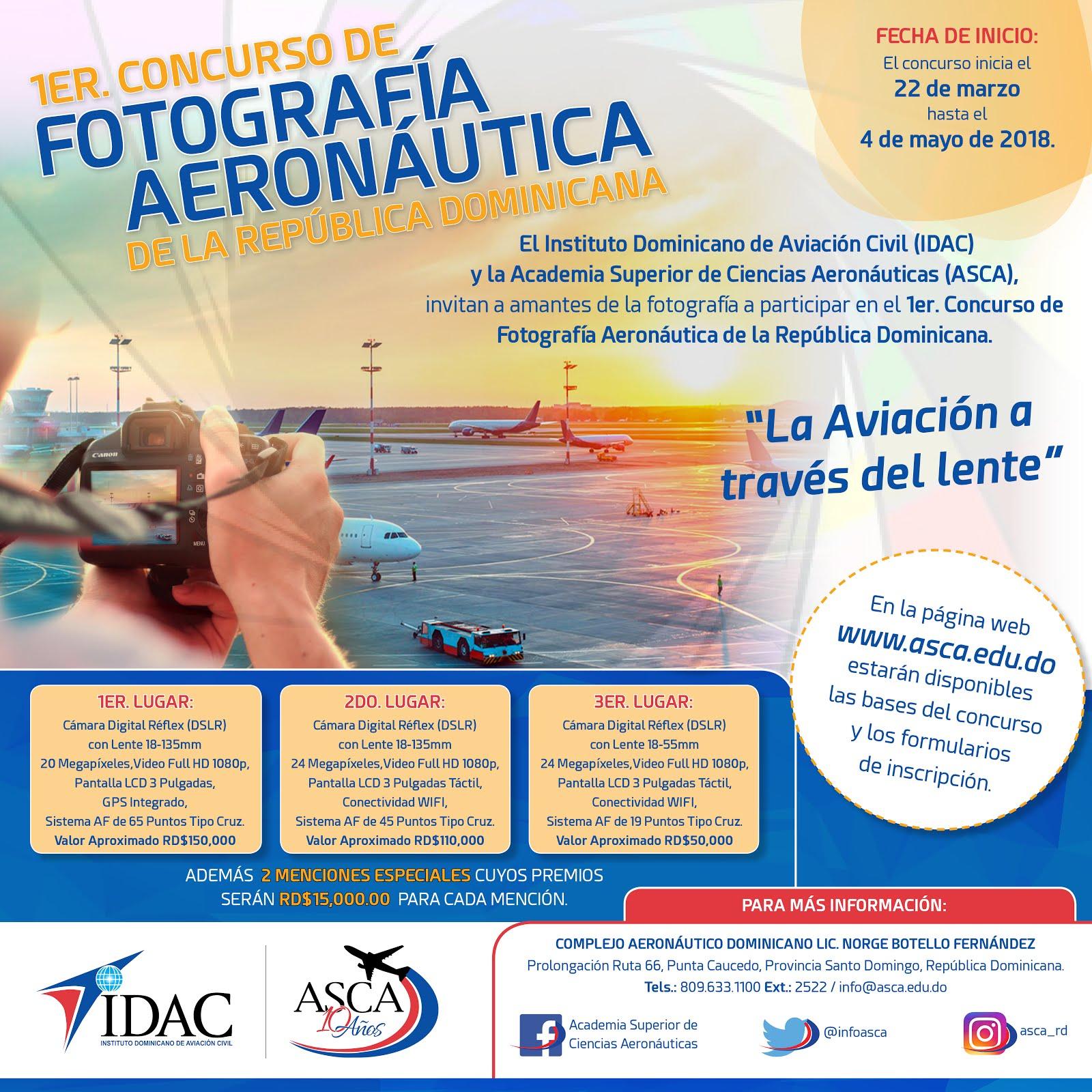 Concurso Fotografía Aeronáutica IDAC y ASCA