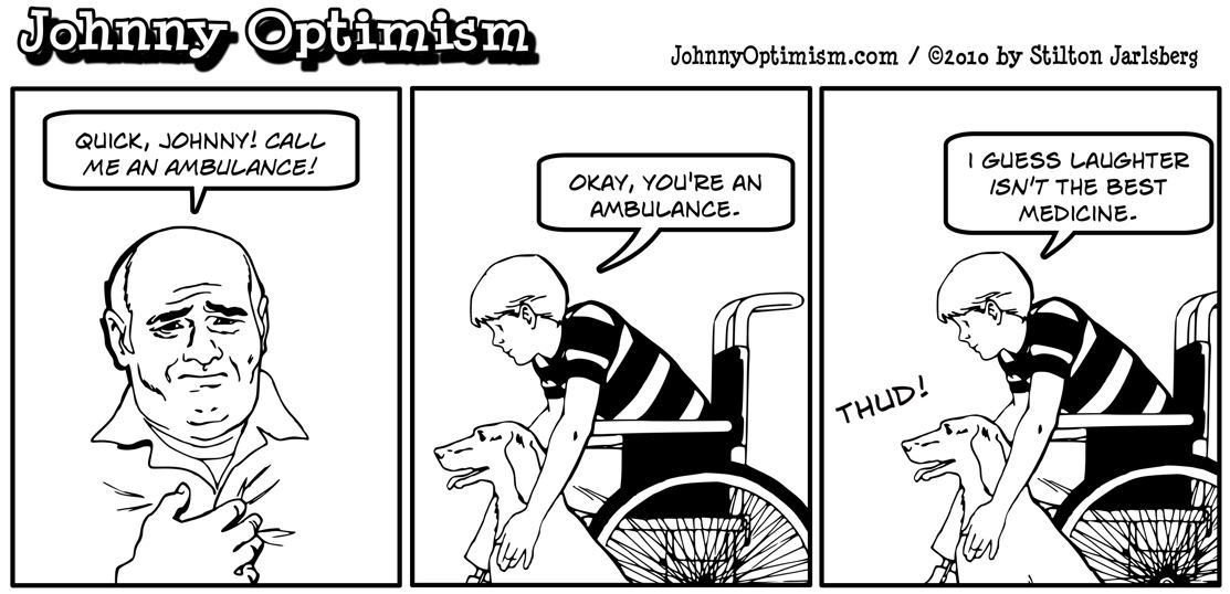Johnny Optimism, johnnyoptimism, medical humor