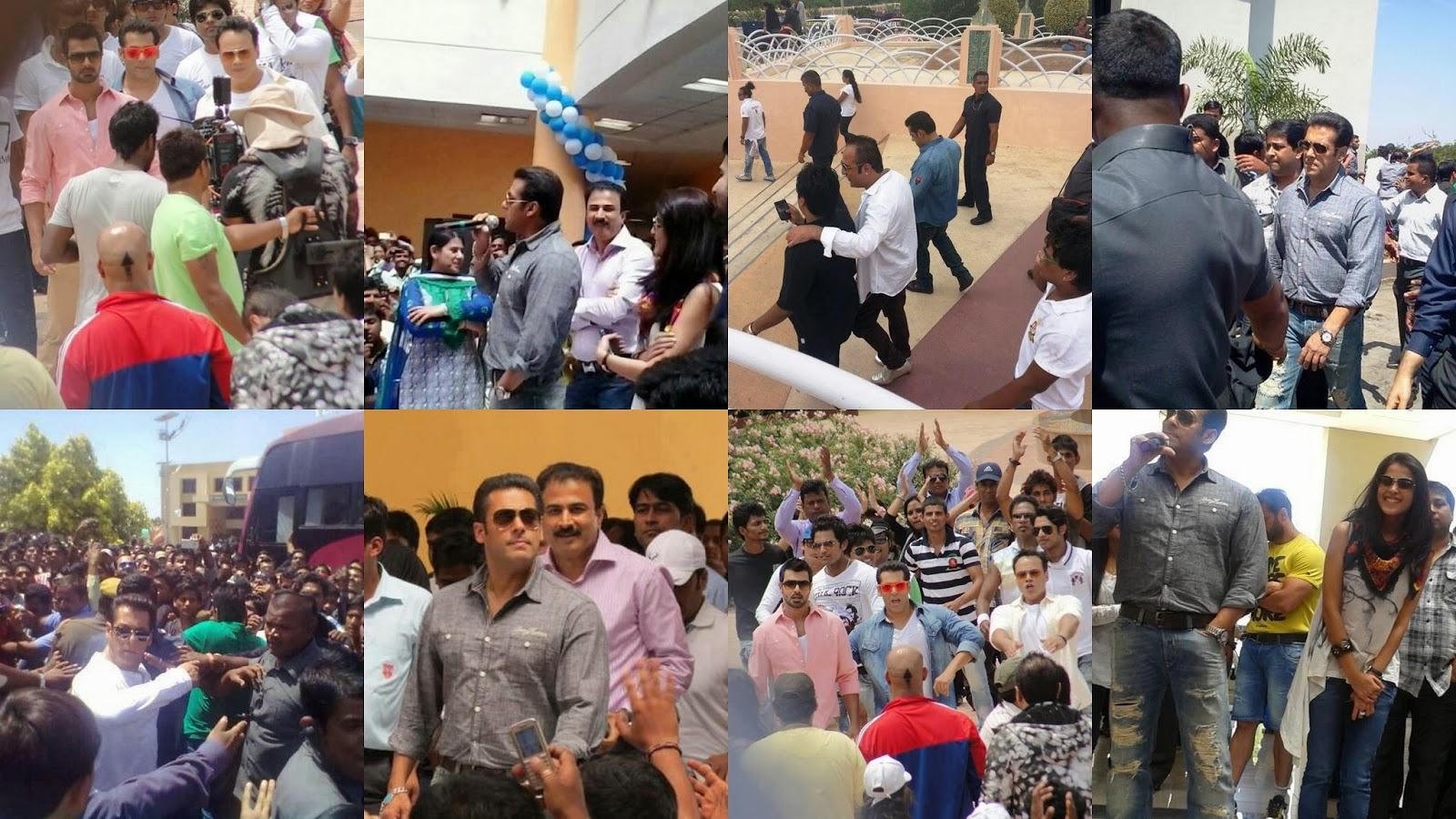 Salman Khan behind the scene on shoot of Jai Ho movie