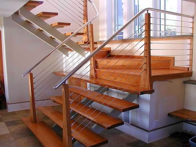 Stair railing system ayanahouse for Stainless steel railings interior