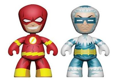 DC Universe Mini-Mez-Itz Series 2 by Mezco Toyz - The Flash & Captain Cold Vinyl Figures