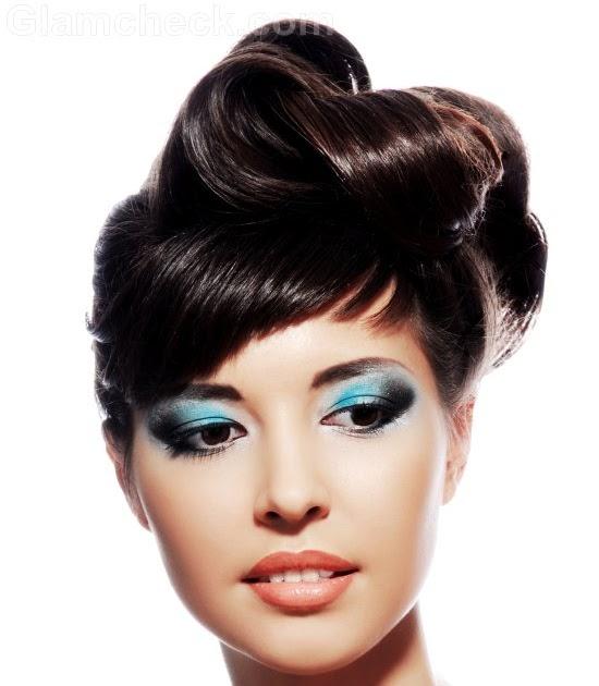 dramatic eye makeup for blue eyes bridal makeup