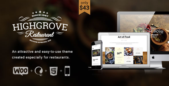 Free Download HG Restaurant V1.5.5 Responsive WordPress Theme