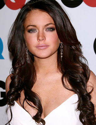 Singer Lindsay Lohan Posing in Event
