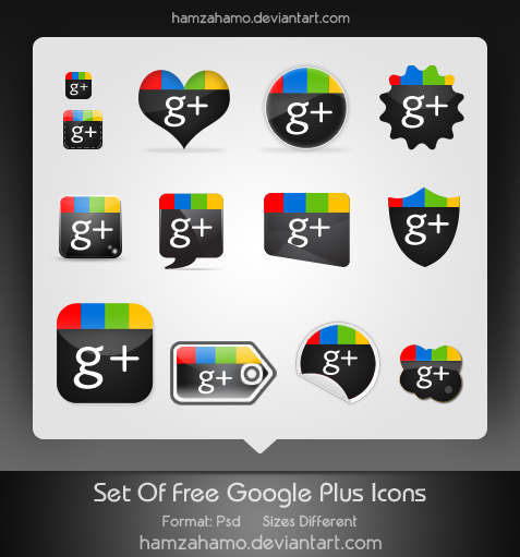 Google+ Icons Download by hamzahamo