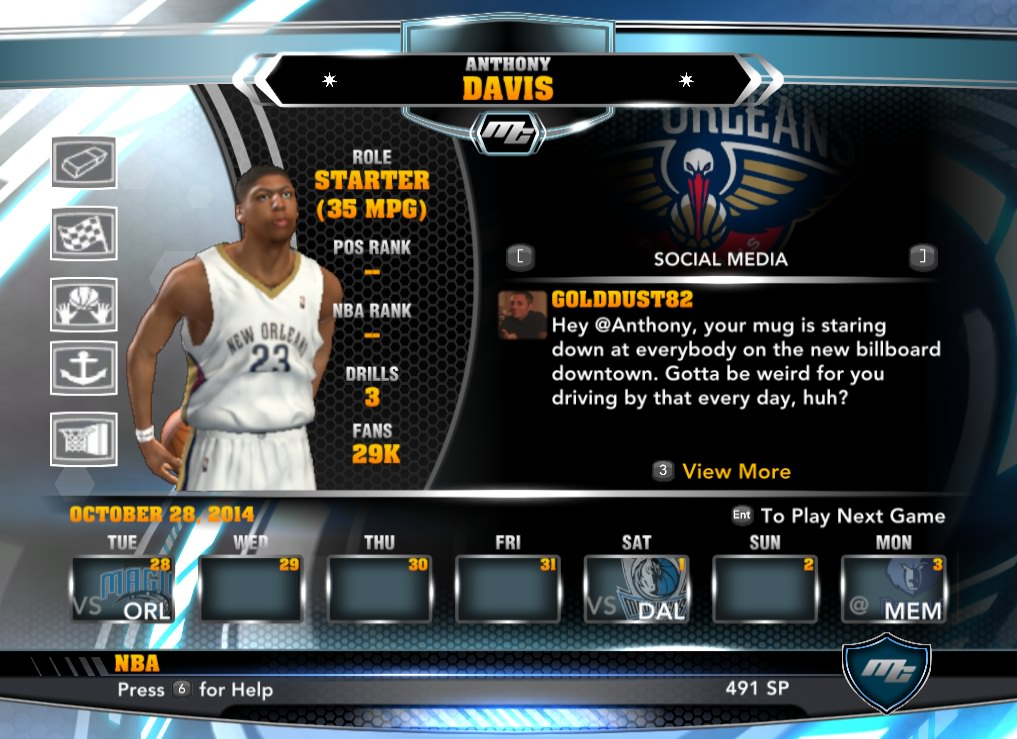nba 2k14 Anthony Davis mycareer patch download hoopsvilla