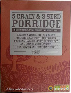 M&S 5 grain 3 seed porridge box