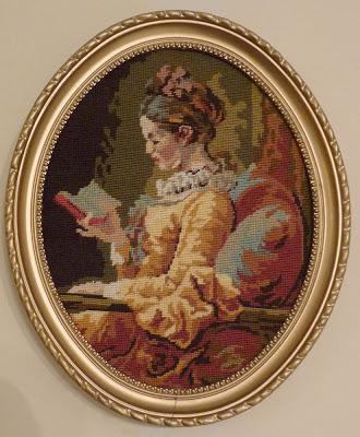 La liseuse de Fragonard,tapisserie